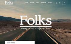 Folks #isotw #webdesign #inspiration