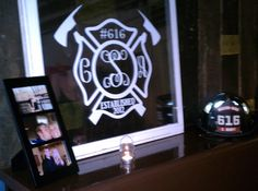 Firefighter Wedding decorations for the reception :)