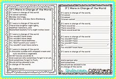 if i were in charge of the world poem free template poem