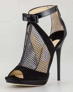 536053a2fc Jimmy Choo - Callie Platform Mesh Bootie Jimmy Choo, Fashion Moda, Fashion  Shoes,