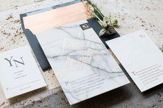 marble wedding invitation - on the Marrygrams Blog
