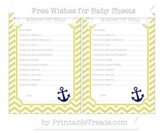 Straw Yellow Chevron  Nautical Wishes for Baby Sheets