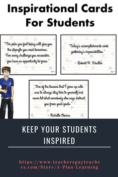 Inspirational Cards For Students School Resources, Classroom Resources, Classroom Organization, Classroom Management, School Stuff, Back To School, Teaching Posts, Homework, Note Cards