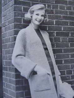 PDF Knitted Sweater Coat Pattern 1950's. Can't decide which one I like best. I reckon I want them all.
