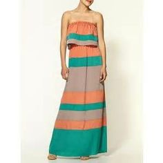 Color Block Maxi Dresses - Bing Images