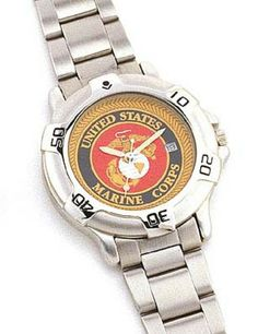 "Military logo quartz watches $54.91 ""Marine Corps"" logo watch.  Military Gifts. Christmas Gifts. http://www.armynavyshop.com/prods/rc4227.html"