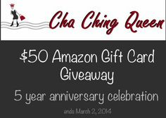Amazon $50 Gift Card Giveaway – Ends March 2, 2014