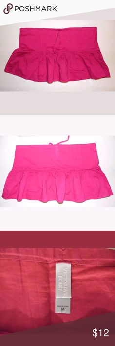 Victoria's Secret Bikini Cover Up Skirt Size M This is pre-owned in good condition. Fuschia color bikini skirt.  Length: 13 in Width: 19 in  GT Victoria's Secret Swim Coverups