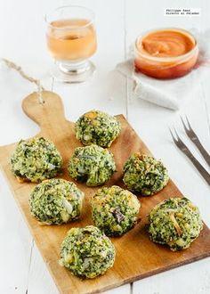 Receta de albóndigas de brócoli. Receta con fotografías del paso a paso y recomendaciones de degustación. Recetas vegetarianas