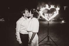 Ann`s Wedding. Fire Show