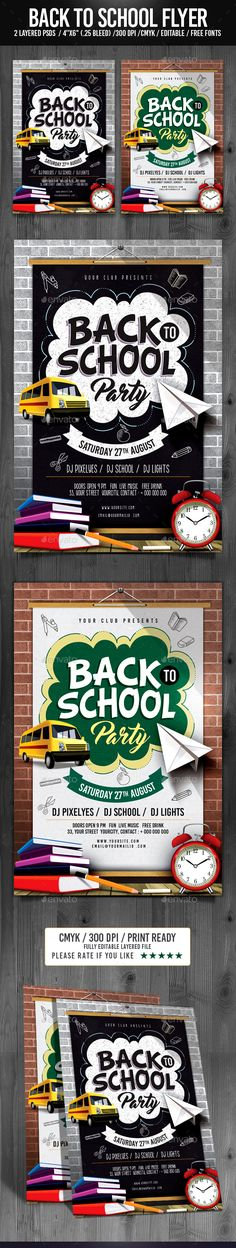 Back to School Flyer Template PSD. Download here: https://graphicriver.net/item/back-to-school-flyer/17520260?ref=ksioks