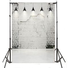 5x7FT Thin Vinyl Photography Backdrop White Brick Wall Photo Background MH431 | Cameras & Photo, Lighting & Studio, Background Material | eBay!