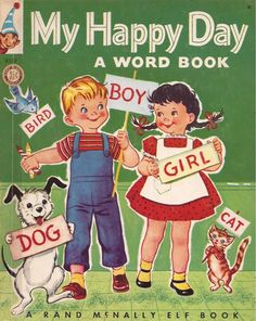 My Happy Day A Word Book 1951 Rand McNally Elf Book