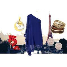 nite in paris, created by #drue-young on #polyvore. #fashion #style AX Paris Paris Hilton
