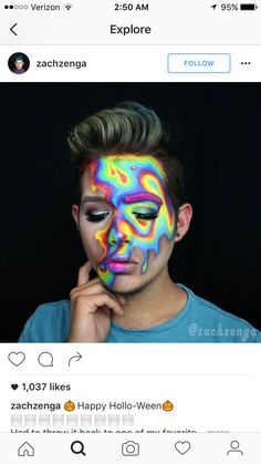 Gorgeous psychedelic makeup