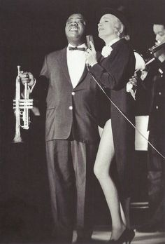 Louis Armstrong & Marlene Dietrich