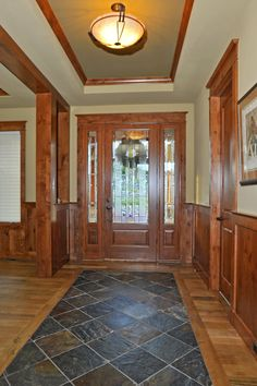 entryway fixtures and woodwork wood tile