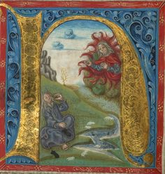 Illuminated Manuscript, Bible (part), Moses before the burning bush, Walters Manuscript W.805, fol. 37v detail by Walters Art Museum Illuminated Manuscripts, via Flickr