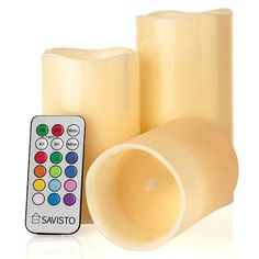 Shop for Savisto Flameless Led Real Mood Candles With Colour Changing Remote Control & Timer – Made From Solid Wax, Cream. Starting from Choose from the 3 best options & compare live & historic home lighting and lamp prices. Gadget Gifts, Kitchen Gifts, Home Lighting, Color Change, Remote, Innovation, Candle Holders, Wax, Gadgets