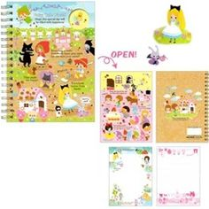 Kamio Fairy Tale World A6 Spiral Notebook