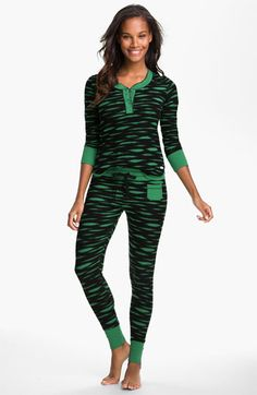 Kensie 'Quite the Character' Thermal Pajamas available at #Nordstrom $58.00