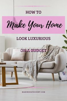 It is so much fun when we can make our homes look more expensive with DIY projects on a budget. Here are 7 ideas that you must check out today! #budgethome #diyhome Diy Projects On A Budget, Diy On A Budget, Decorating On A Budget, Easy Diy Projects, Home Projects, T Home, Home Look, Spring Home Decor, Autumn Home