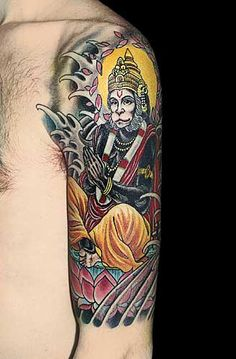 Hanuman tattoo.