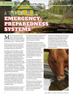 A Test of Emergency Preparedness Systems By: Patrice Lewis---Molly Green - Spring 2016 - Page 8-9 http://www.mollygreenonline.com/mollygreen/spring_2016?pg=9#pg9