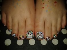 2Nov. DIA DE LOS MUERTOS!! by R7777 - Nail Art Gallery nailartgallery.nailsmag.com by Nails Magazine www.nailsmag.com #nailart