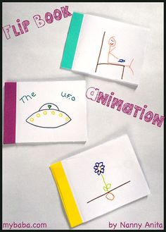 How to make animation flip books with children. They also make wonderful items for busy bags.