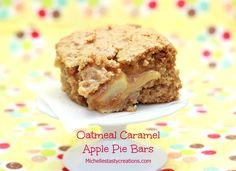 Michelle's Tasty Creations: Oatmeal Caramel Apple Pie Bars