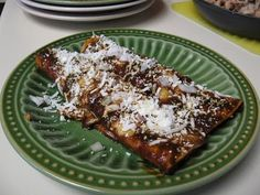 Enchiladas Dulces. Made with Abuelita chocolate, it's the perfect blend of sweet and spicy.