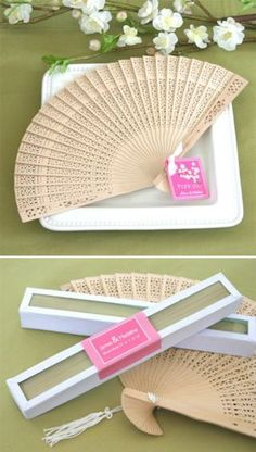 Fragrant sandalwood hand fans -  18 Extremely Cute Wedding Favours- craftwed Best Wedding Halls In Bangalore  https://www.craftwed.com/18-extremely-cute-wedding-favours/