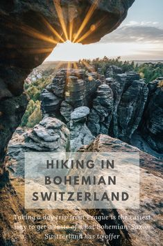 Why You Should Consider Hiking in Bohemian Switzerland: Taking a day trip from Prague is the easiest way to get a taste of what this Bohemian-Saxon Switzerland has to offer. Just an hour and a half north and a complete departure from the centuries-old sit Europe Travel Guide, Travel Guides, Traveling Tips, Travel Hacks, Hiking Europe, Travel Plan, Cool Places To Visit, Places To Travel, Travel Destinations