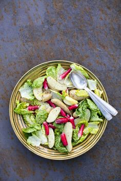 Warm Potato and Radish Salad with a French Dressing