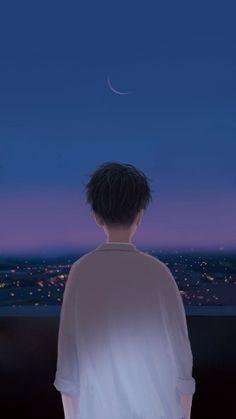 Trendy Ideas For Illustration Art Boy Wallpaper Animes, Anime Scenery Wallpaper, Animes Wallpapers, Cute Wallpapers, Phone Wallpapers, Wallpaper Quotes, Anime Love Couple, Cute Anime Couples, Couple Cartoon