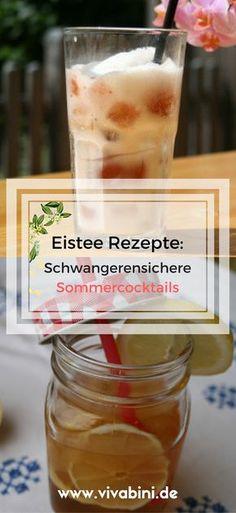 Leckere Eistee Rezepte, für Jedermann aber ausdrücklich auch für Schwangere geeignet: würziger Iced Chai Tea Latte und ein spritziger Früchtetee-Cocktail: so schmeckt der Sommer!