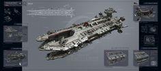 Maelstrom by KaranaK on deviantART (heavy armor, heavy firepower, no troop transport capital ship)