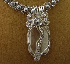crochet wire and wire wrapped jewelry
