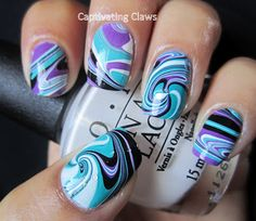 Captivating Claws: Weekly Water Marble 8/9/12