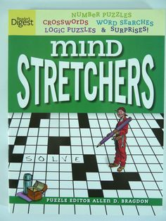 Readers Digest Mind Stretchers Book 2012 Olive Edition Crossword & Puzzles