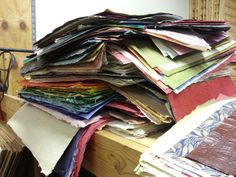 Every paper was pulled from piles of paper, stacked and sorted. And, the piles were numerous.