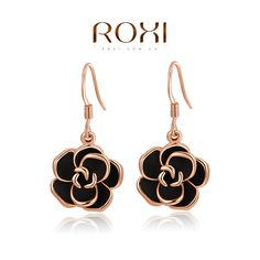 ROXI Christmas rose earrings,Gift to girlfriend is the most beautiful,Pure hand-made bring you different elegant,2020001310 US $2.99