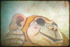 Carnival Ride Photograph Monkey Bokeh by KalstekPhotography, $30.00