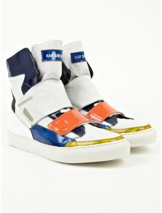 Raf Simons Men's Hi Top Fashion Sneaker