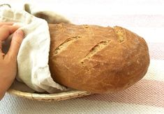recept na domáci chlieb Sourdough Recipes, Gingerbread Cookies, Food And Drink, Snacks, Meals, Cooking, Hampers, Breads, Bread