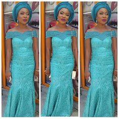 @eniola_adeshina, @lammybelz, Aso ebi styles, fashionisat, trend, off-shoulder styles, lace, african styles, beautiful and colourful wardrobe,Slays