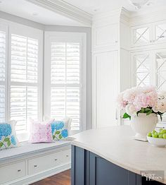 Whether cafe- or full-height, shutters are the quintessential cottage window treatment. And they're not just for privacy. Use them for pantry doors or creative decorating to tell a cottage tale.