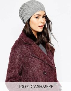 $123, Johnstons 100% Cashmere Cable Beanie. Sold by Asos. Click for more info: https://lookastic.com/women/shop_items/343682/redirect