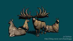 메갈로케로스 야생의땅 듀랑고 사슴 애니메이션 animation dinosaur 恐龍